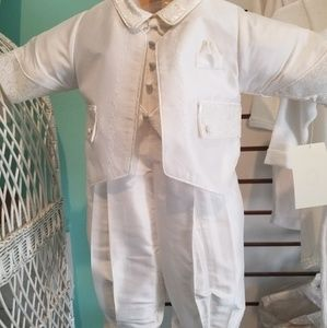 Boys formal baptismal suit